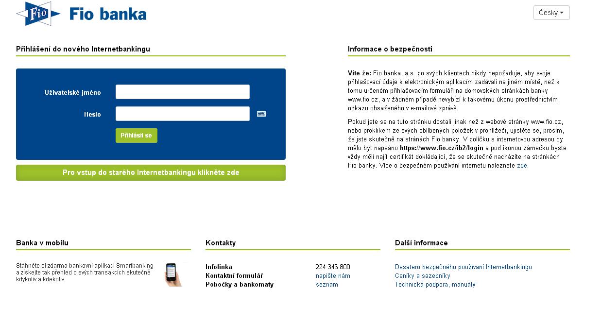 Internetbanking FIO